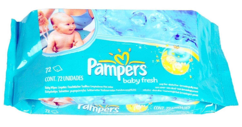 Amazon.com: Lingettes Pampers Baby frais naturel propre (de 72) avec un savon Ayur Blanc: Beauty