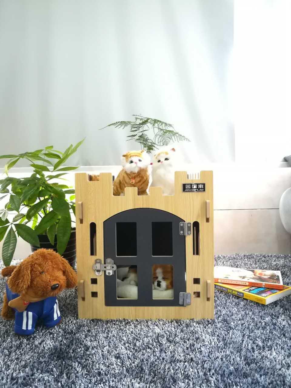 HUIXUAN DIY Pet House - Junta de caseta para Interior para Perros pequeños Gatos Mascotas casa con Puerta y Ventana: Amazon.es: Productos para mascotas