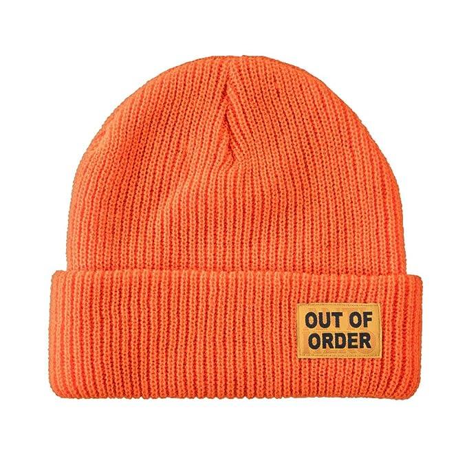 Amazon.com  Anti Hero Skateboard Beanie Out of Order Cuff Orange ... b1e9fda8d78