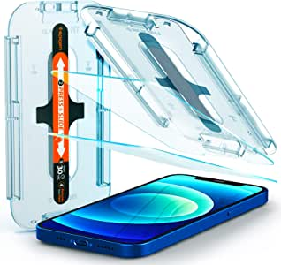 Spigen EZ Fit Tempered Glass Screen Protector for iPhone 12 and for iPhone 12 Pro - 2 Pack
