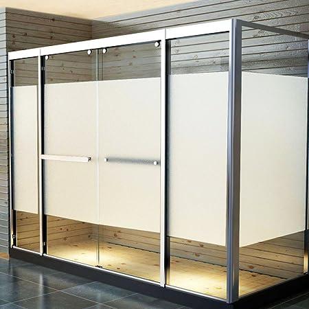 Ventana privacidad película,Película de cristal helada,Window films Etiqueta de la ventana Cuarto de baño Opacidad opaca Puertas correderas Adhesivo Decoración de ventana Oficina-A 75x100cm(30x39inch): Amazon.es: Hogar