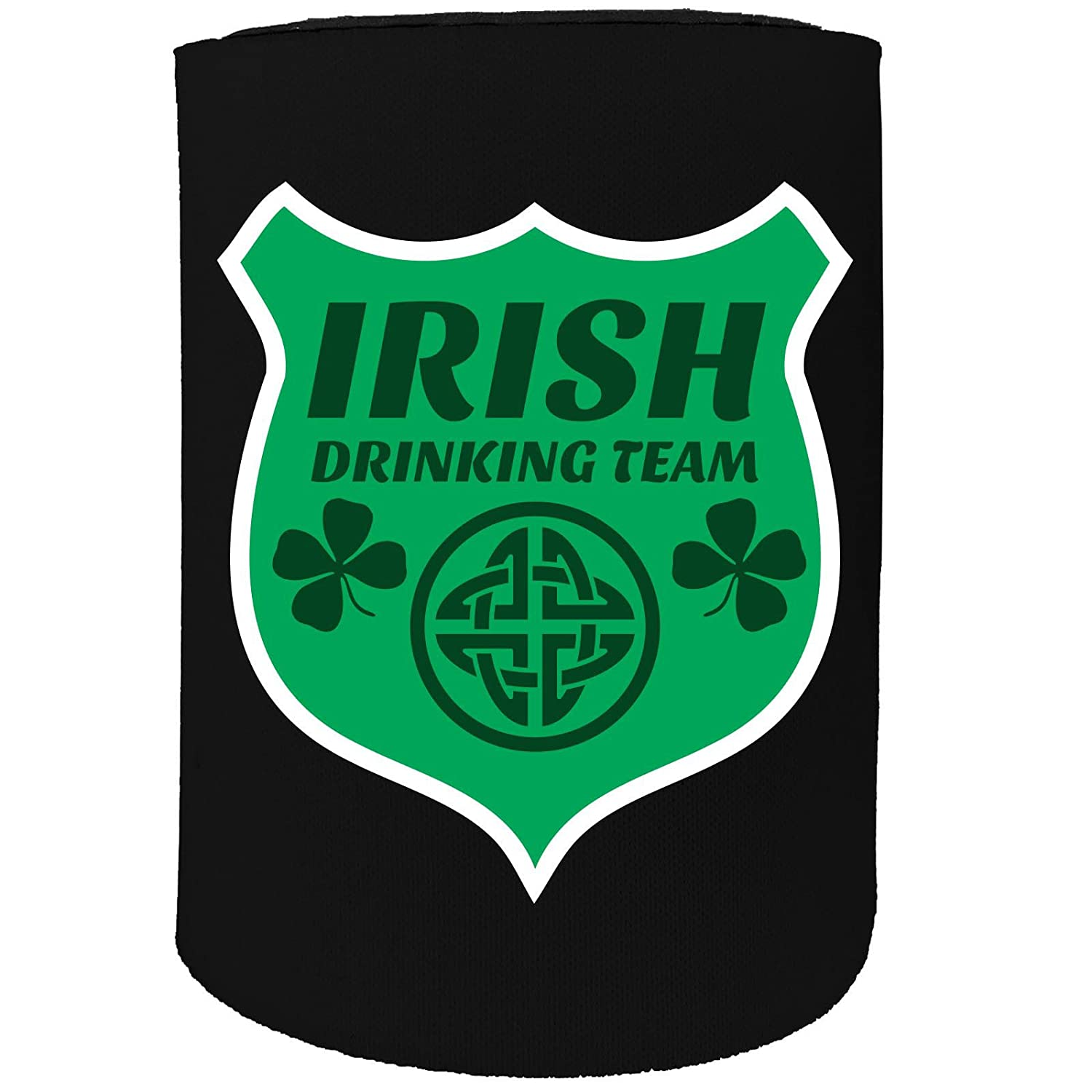 123t Stubby Holder - Irish Drinking Team - Funny Novelty Birthday Gift Joke Beer Can Bottle Coolie Koozie Stubbie