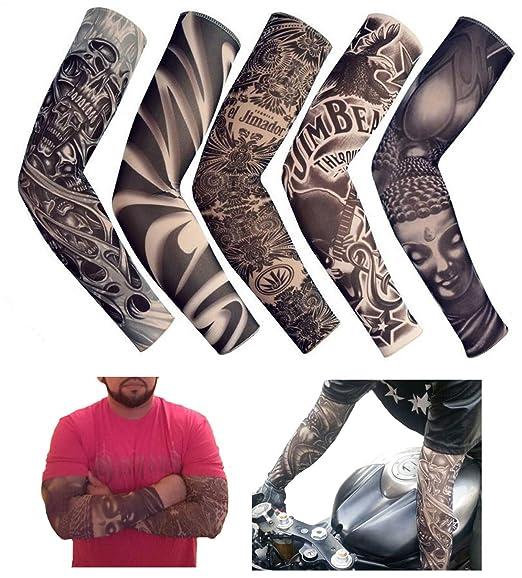 iToolai - Mangas de tatuaje falsas temporales unisex con calavera ...