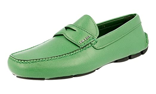 Men's 2DD001 053 F0089 Saffiano Leather Loafers