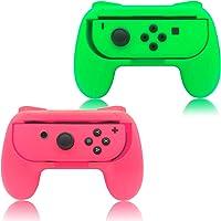 Nintendo Switch Joycon Grip 2li Paket Joycon Oİvo green pink