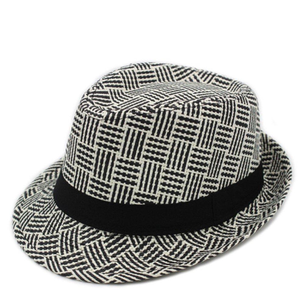 Middle-aged men s hats England spring and summer hat  M Plaid Men s summer  hat  Children gentleman hat  Leisure straw hat Jazz cap-C One Size at  Amazon ... 74838cbb533