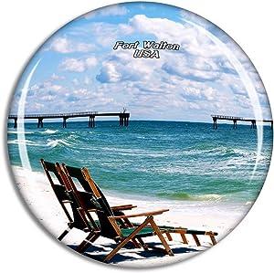 Weekino USA America Fort Walton Beach Fridge Magnet Travel Souvenir City Collection 3D Crystal Glass Gift Strong Refrigerator Sticker