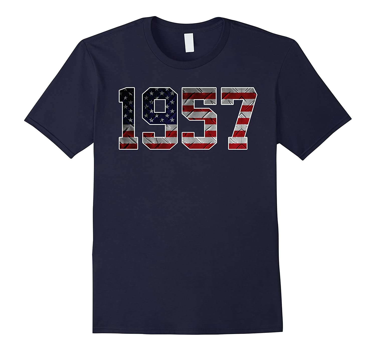 1957 American Flag T-shirt 60th Birthday Gifts-PL