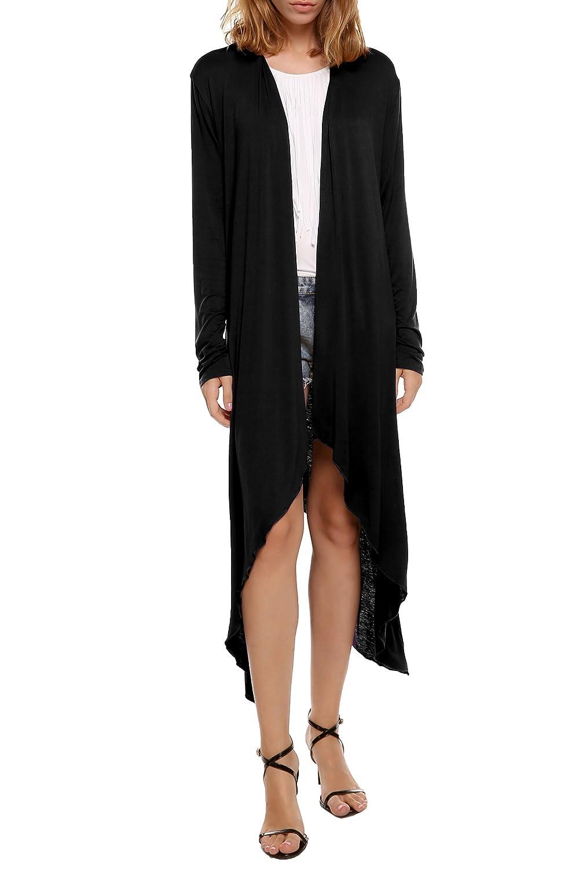17fb7c46b60ff Beyove Women s Long Sleeve Asymmetric Hem Open Front Draped Cardigan Sweater  at Amazon Women s Clothing store
