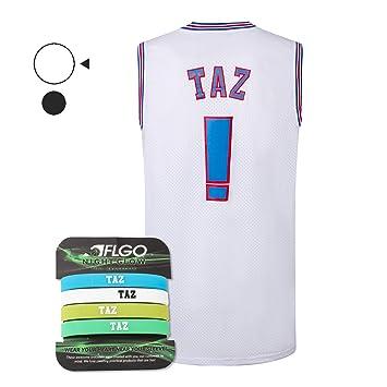 AFLGO Taz. Juego de Camiseta de Baloncesto Space Jersey Que Brilla ...