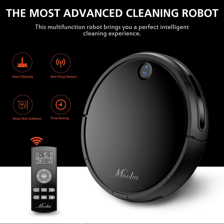 Mooka Robot Aspirador I3, Potente succión, autolocargador Robotic Aspirador, Filtro HEPA® para Mascota, funciona bien en suelos duros y alfombras finas: ...