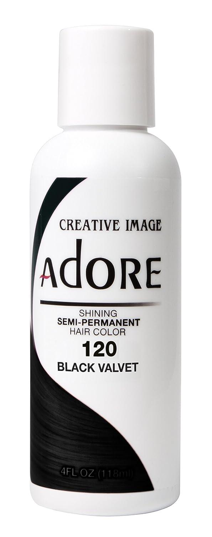 Adore Semi-Permanent Haircolor #120 Black Velvet 4 Ounce (118ml)
