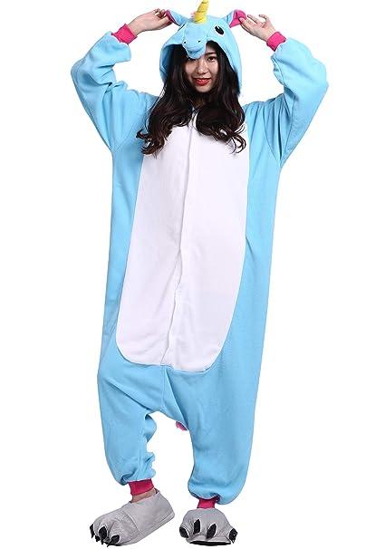 3535c0d116 Pijama Animados Kigurumi Cosplay Unicornio Animal para Adulto Unisex   Amazon.es  Ropa y accesorios
