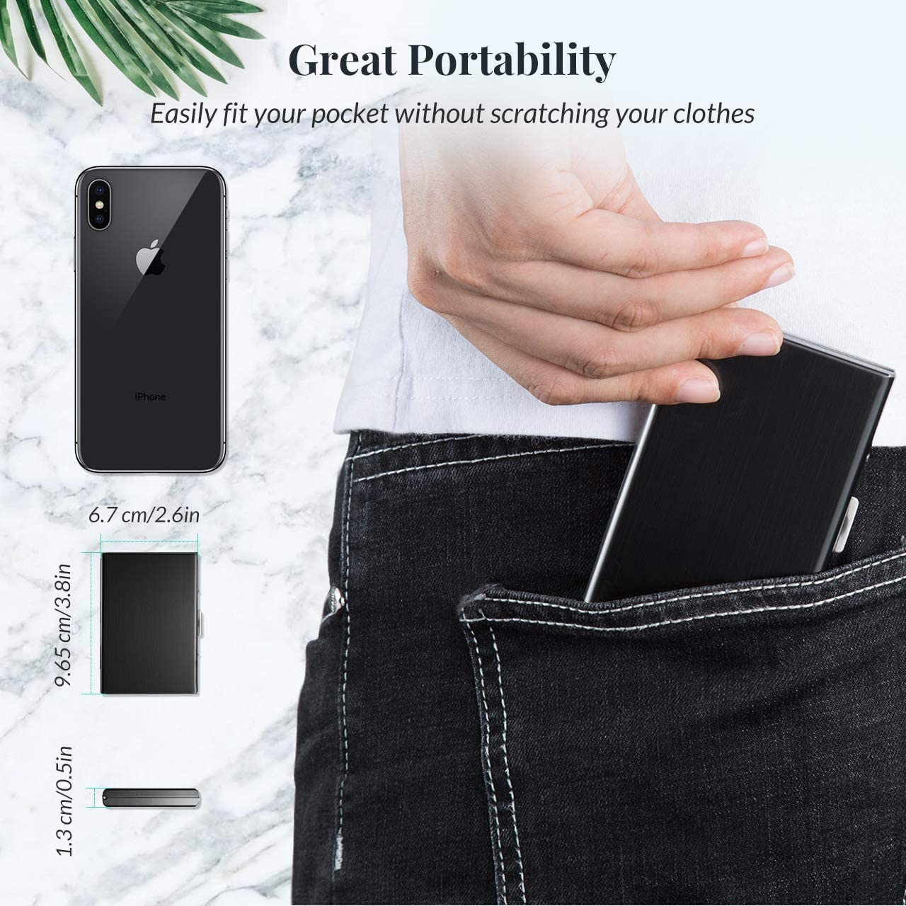 New Black Real Leather Credit Card Holder//Mobile Phone Pouch Purse Taxi Bag 2086