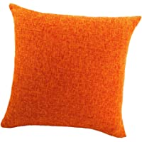 MagiDeal Simple Cushion Cover Throw Pillow Cases For Car / Sofa / Bed Deco - Orange