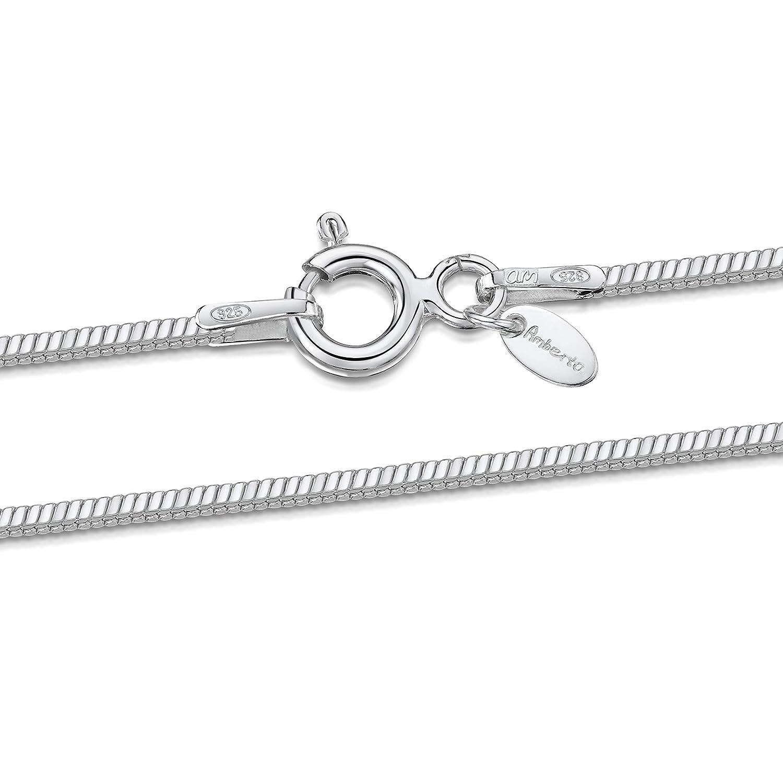 Snake Schlangenkette Silber 925 Länge 45 cm 2,4 mm 925er Sterling Silber