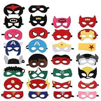 Soleebee 30 Piezas Máscaras de Superhéroes, Máscaras de ...