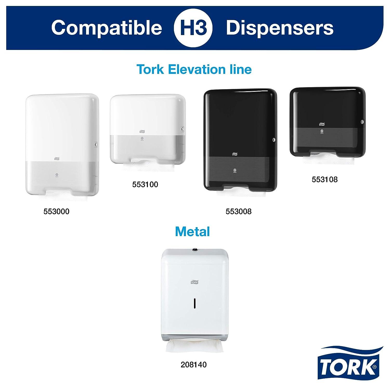 Tork 100278 - Juego de 15 paquetes x 200 toallas de papel de mano entreplegadas extrasuaves, 2 capas, color blanco: Amazon.es: Industria, empresas y ciencia