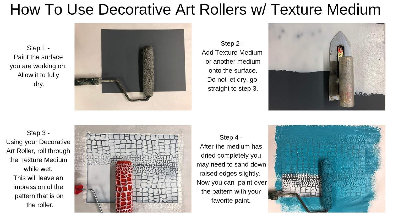 17,8/cm Decorative Art Roller/ /Schlange Haut Muster
