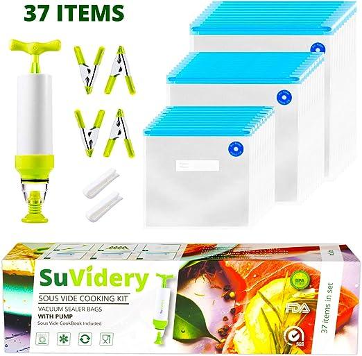 Sous Vide Bags por SuVidery – 30 bolsas de sellado al vacío ...