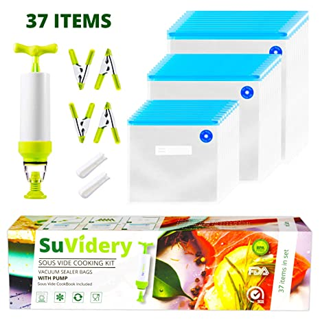 Amazon.com: SuVidery – 30 bolsas reutilizables multitamaño ...