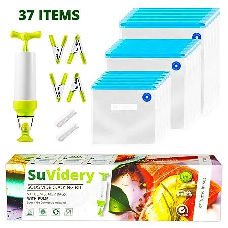 Sous Vide Bags por SuVidery - 30 bolsas de sellado al vacío ...