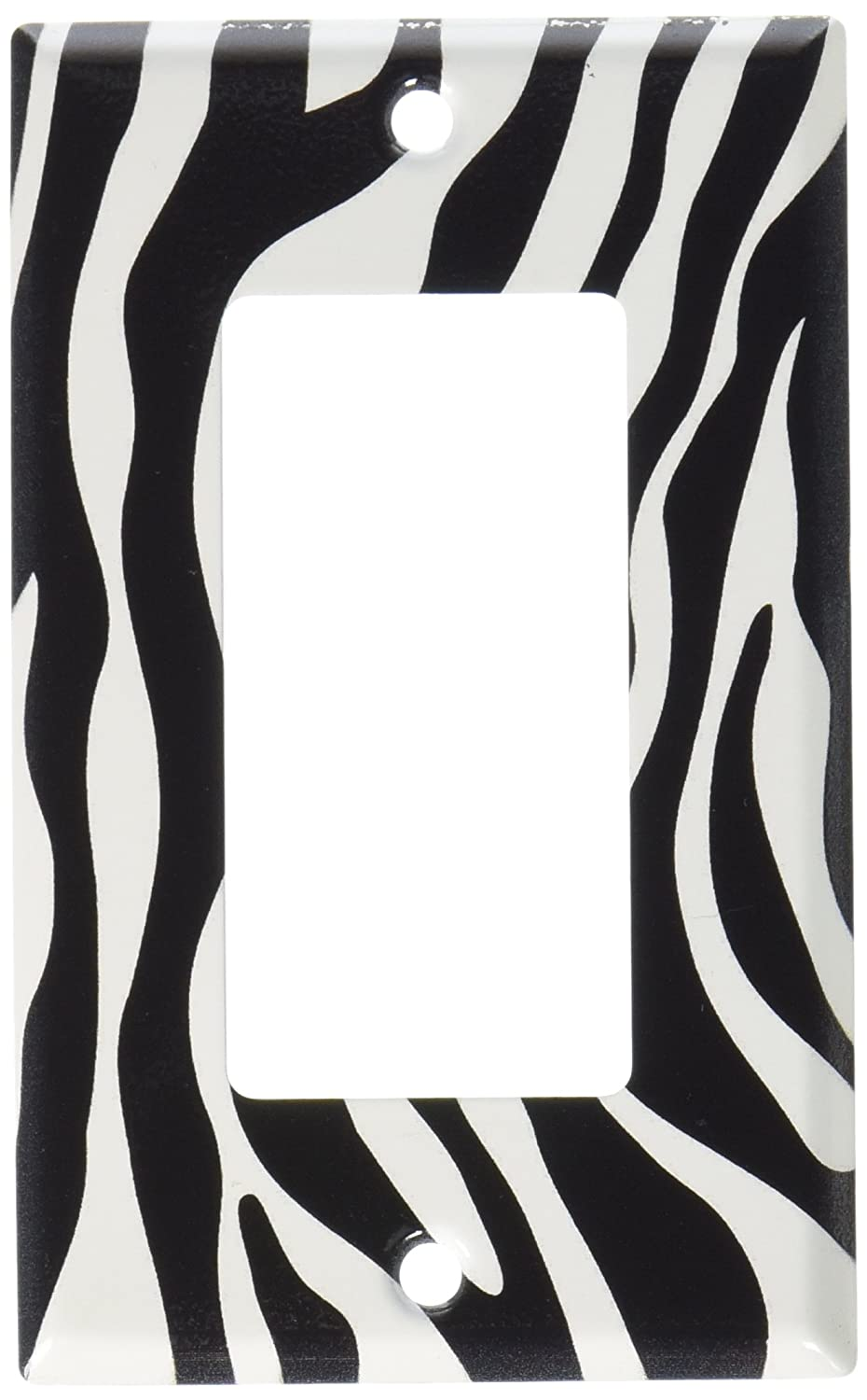 Outlet Cover 50-O-plate Zebra Print Switch Plate Art Plates
