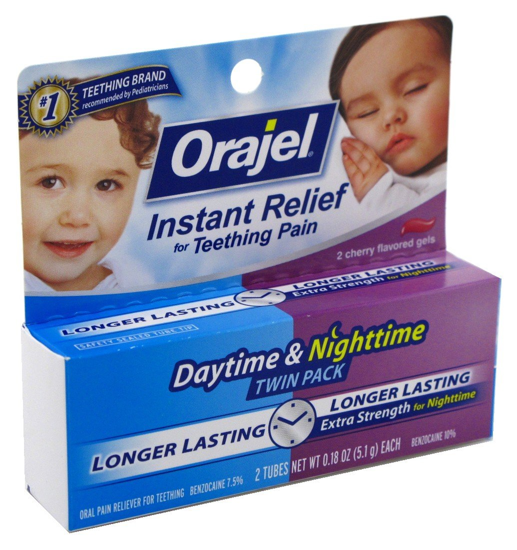 Oragel Instant Relief for Teething Pain, Extra Strength, 2 ea 0.18 oz
