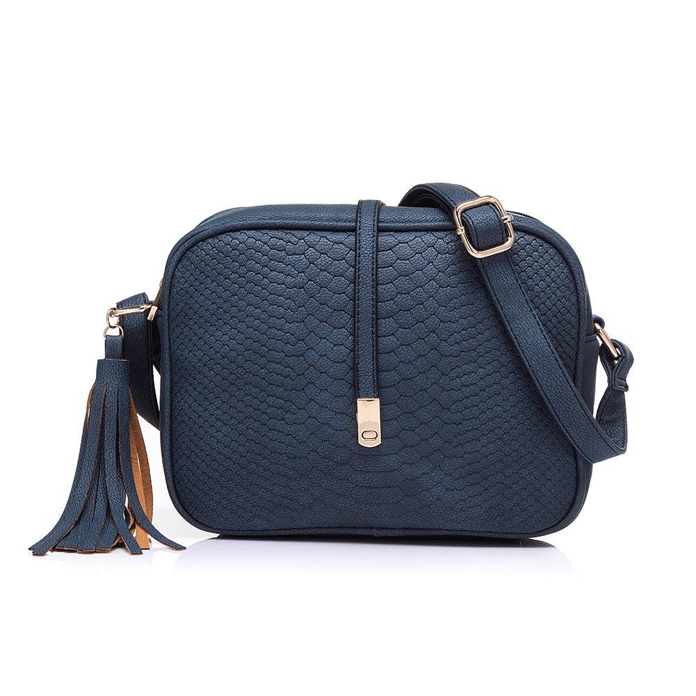 Realer Petits Sacs en Cuir PU Sacs Crossbody pour Femmes avec Gland et Sangle réglable Handbag