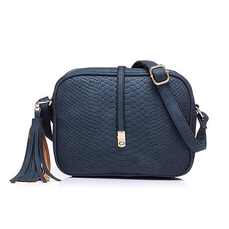 informazioni per a3700 90818 Realer Piccola pelletteria Borse Crossbody e borse con tracolla per le  donne Blu scuro