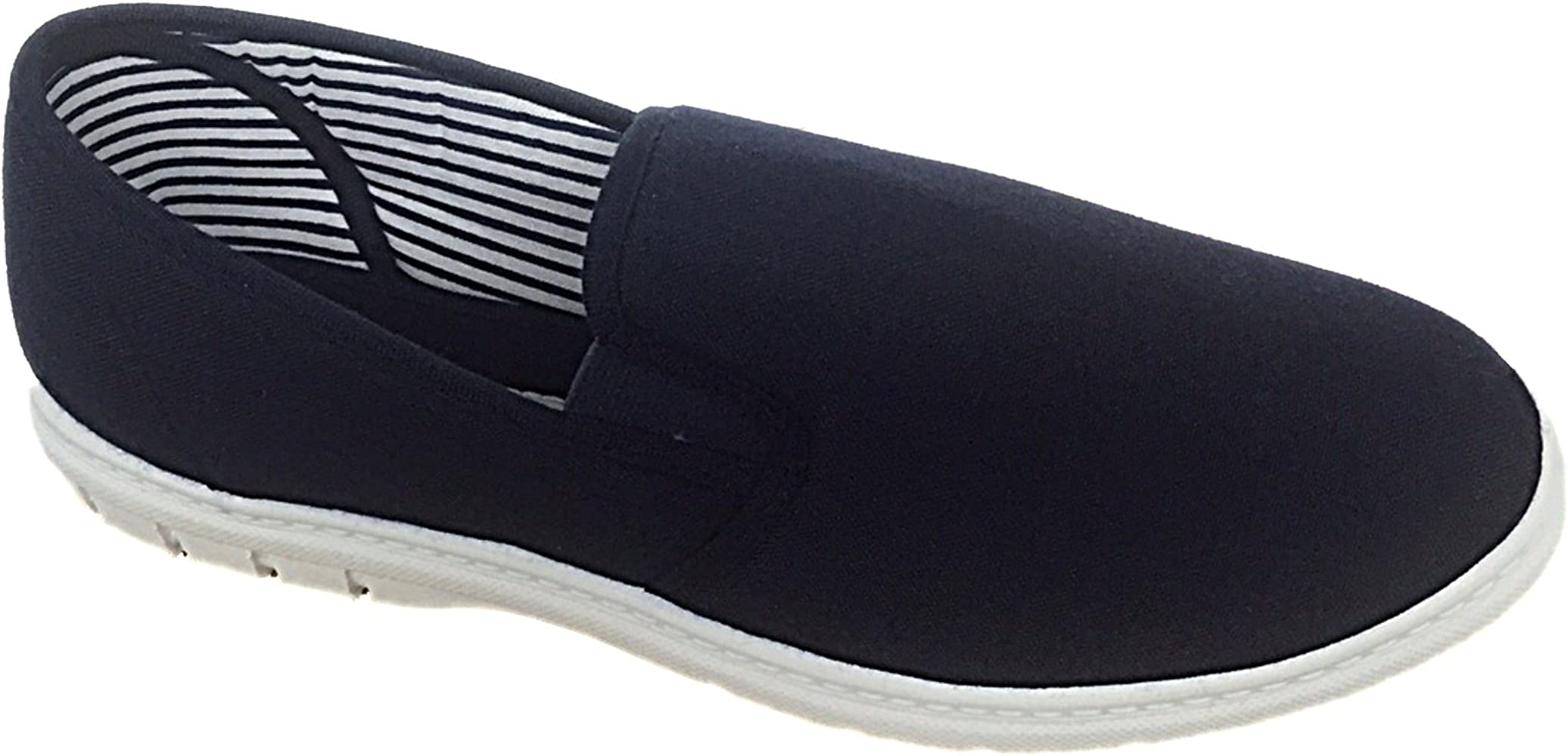Size 9 UK Mens Shoe Tree BRETT Canvas Slip On Wider Fit Plimsoll Pump Trainer Slipper Deck Shoe Size 6-12