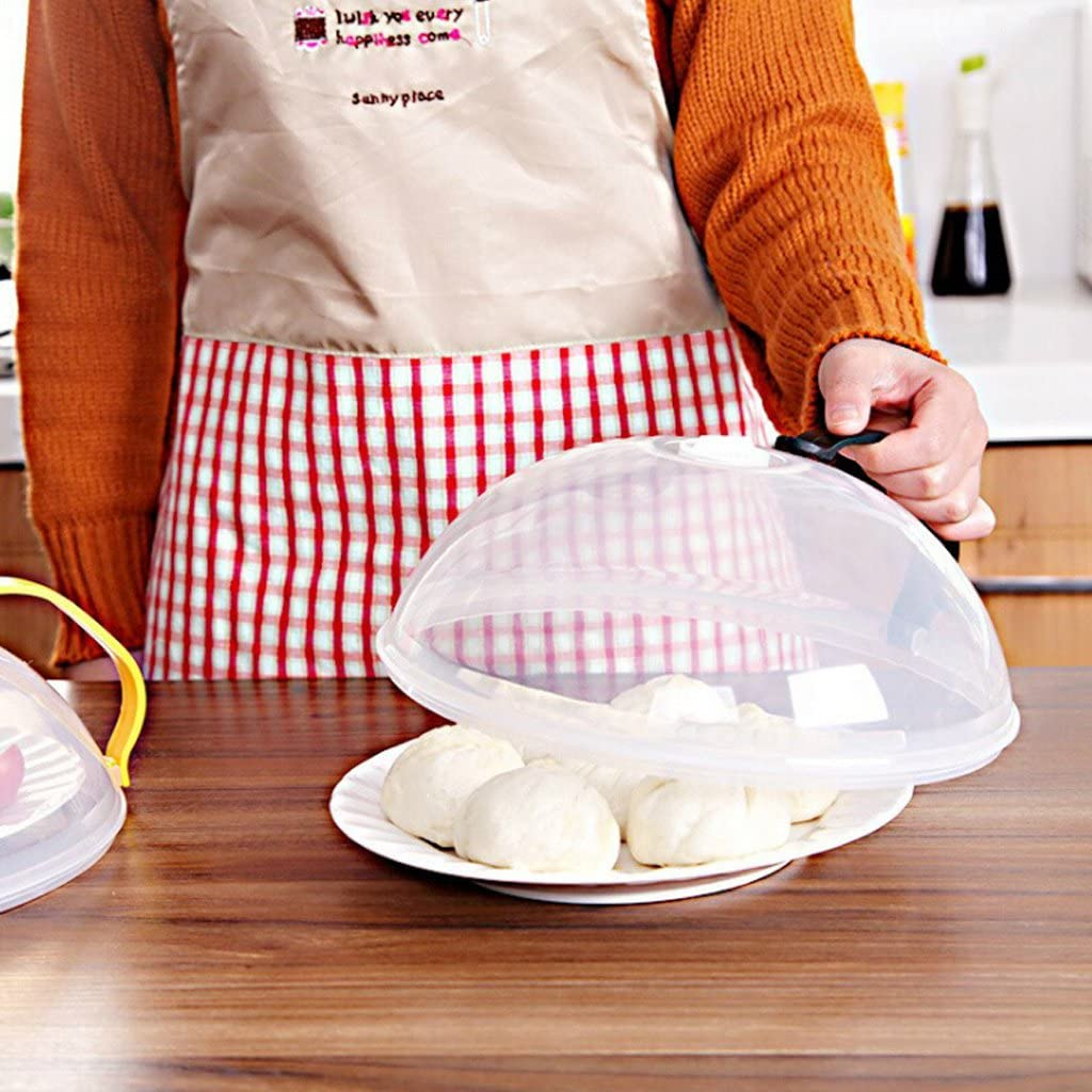S-TROUBLE Cubierta de la Placa del Horno de microondas Antiadherente Ventilaci/ón de Aire Tapa de Salpicadura Tapa de Plato a Prueba de Polvo
