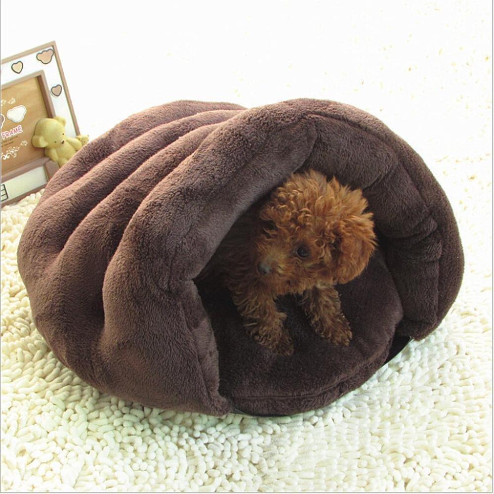 A 504535cm A 504535cm WUTOLUO Pet Bolster Dog Bed Comfort Arctic Velvet washable Kennel Cat nest (color   A, Size   50  45  35cm)