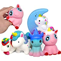 Amteker 5 Pack Kawaii Unicornio Squishy - Lento