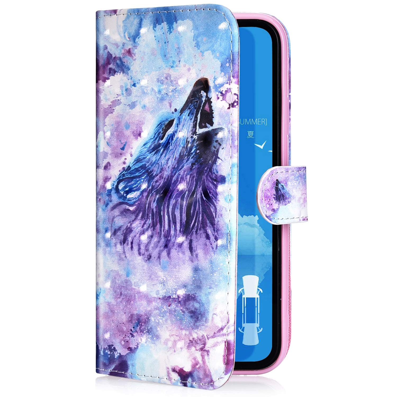 Felfy Kompatibel mit Galaxy S9 H/ülle,Kompatibel mit Galaxy S9 Case Magnetic Flip Case PU Leder Handyh/ülle Schutzh/ülle Klapph/ülle Bunt Muster Sto/ßfest Tasche Lederh/ülle mit Kartenf/ächer