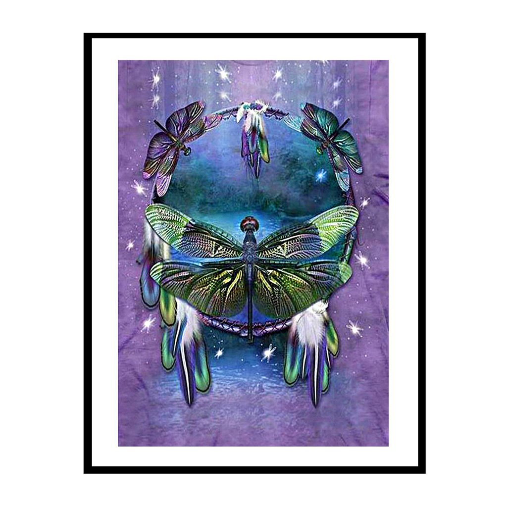 Full Diamond Painting 5D DIY Dream Catching Dragonfly Embroidery Cross Stitch Milue