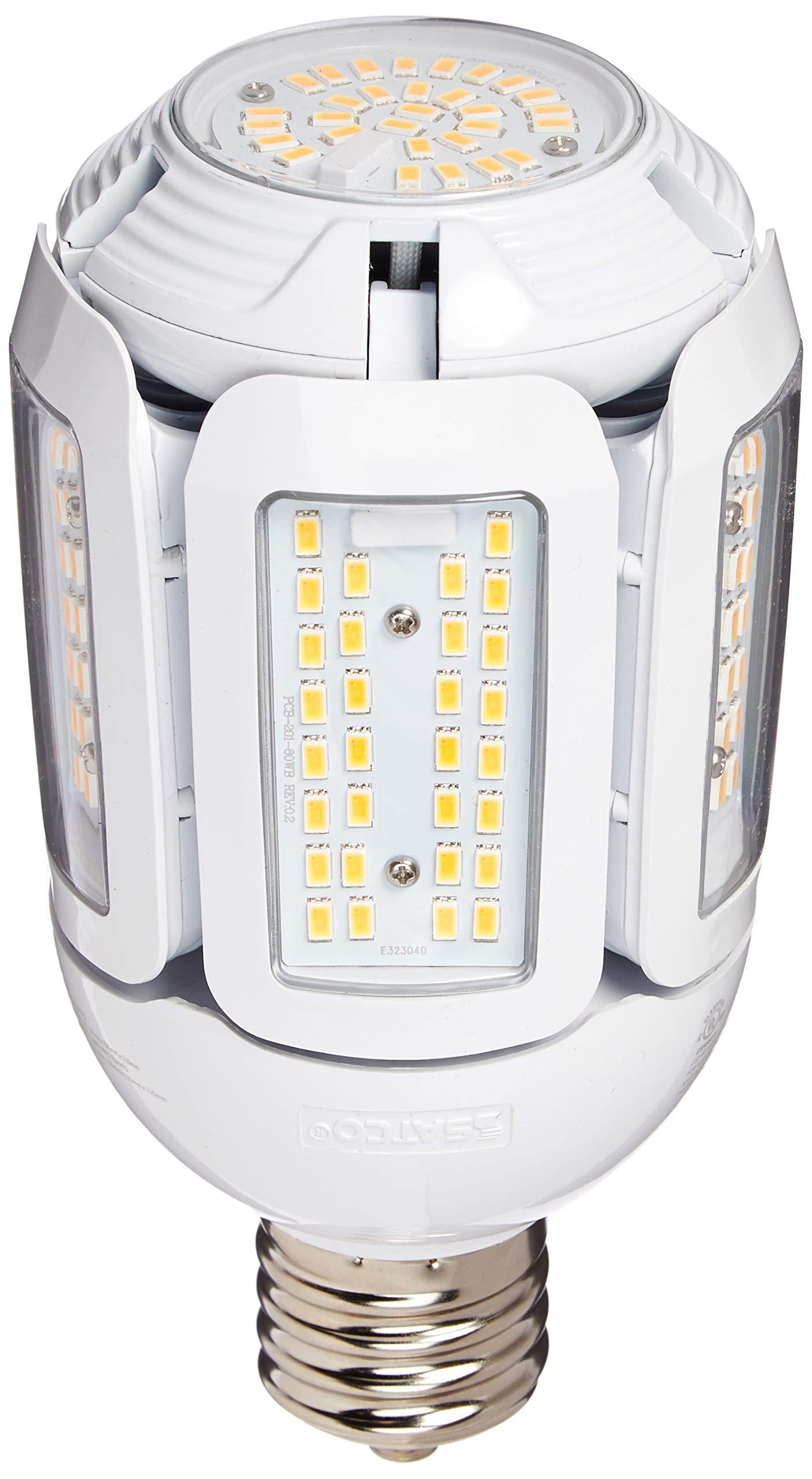 Satco S9799 60 Watt LED Hid Replacement 2700 Kelvin Adjustable Beam Angle 100-277V Light Bulb, Mogul Base (EX39)