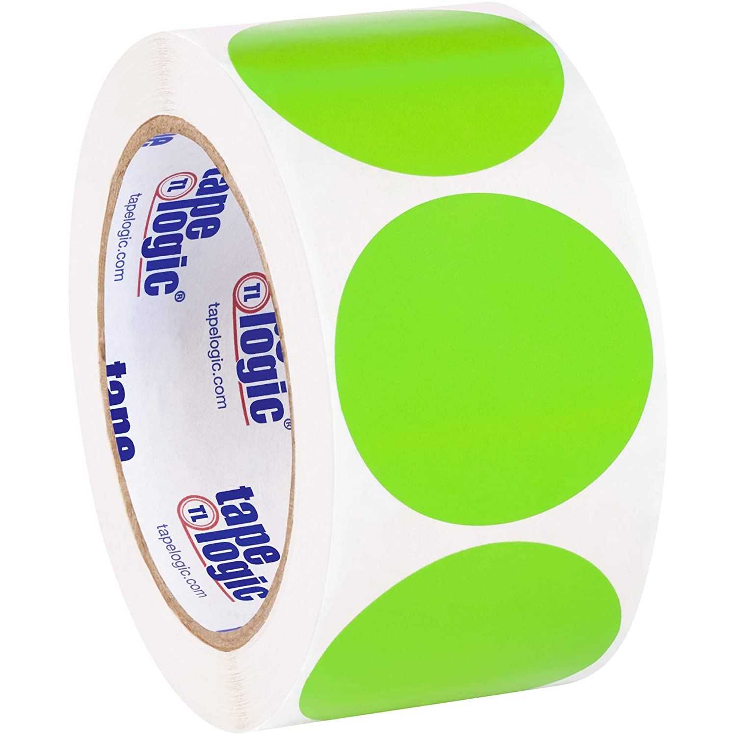 Move to Stock Fluorescent Green Labels 2 Circle
