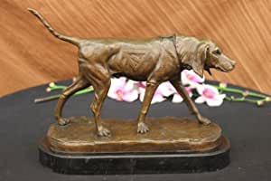 ...Handmade...European Bronze Sculpture Signed Cain Foxhound Dog (AL-109-EU) Bronze Sculpture Statues Figurine Nude Office & Home Décor Collectibles Sale Deal Gifts