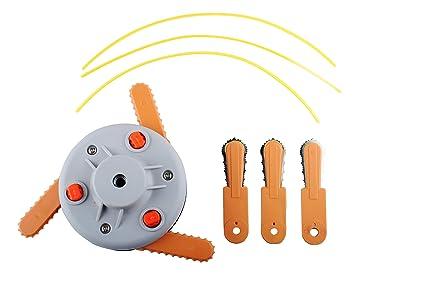 Podoy Universal Trimmer Blade Head Line Straight Shaft for Husqvarna Roybi Stihl Echo Homlite Universal Fit M10 x 1.25 Left Hand Thread Straight Shaft ...