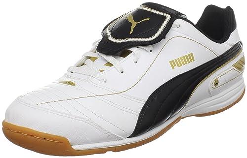 PUMA Men's Esito Finale IT Soccer Shoe,White/Black/Team Gold,7