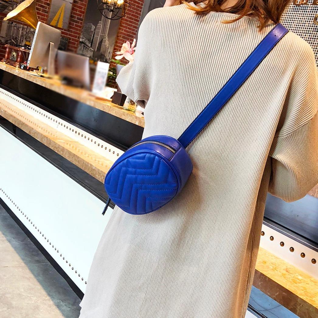 VJGOAL Damen Bauchtasche Damen Mode Solide Reine Farbe Leder Messenger Schulter Urlaub Arbeit Brust kleine Taschen
