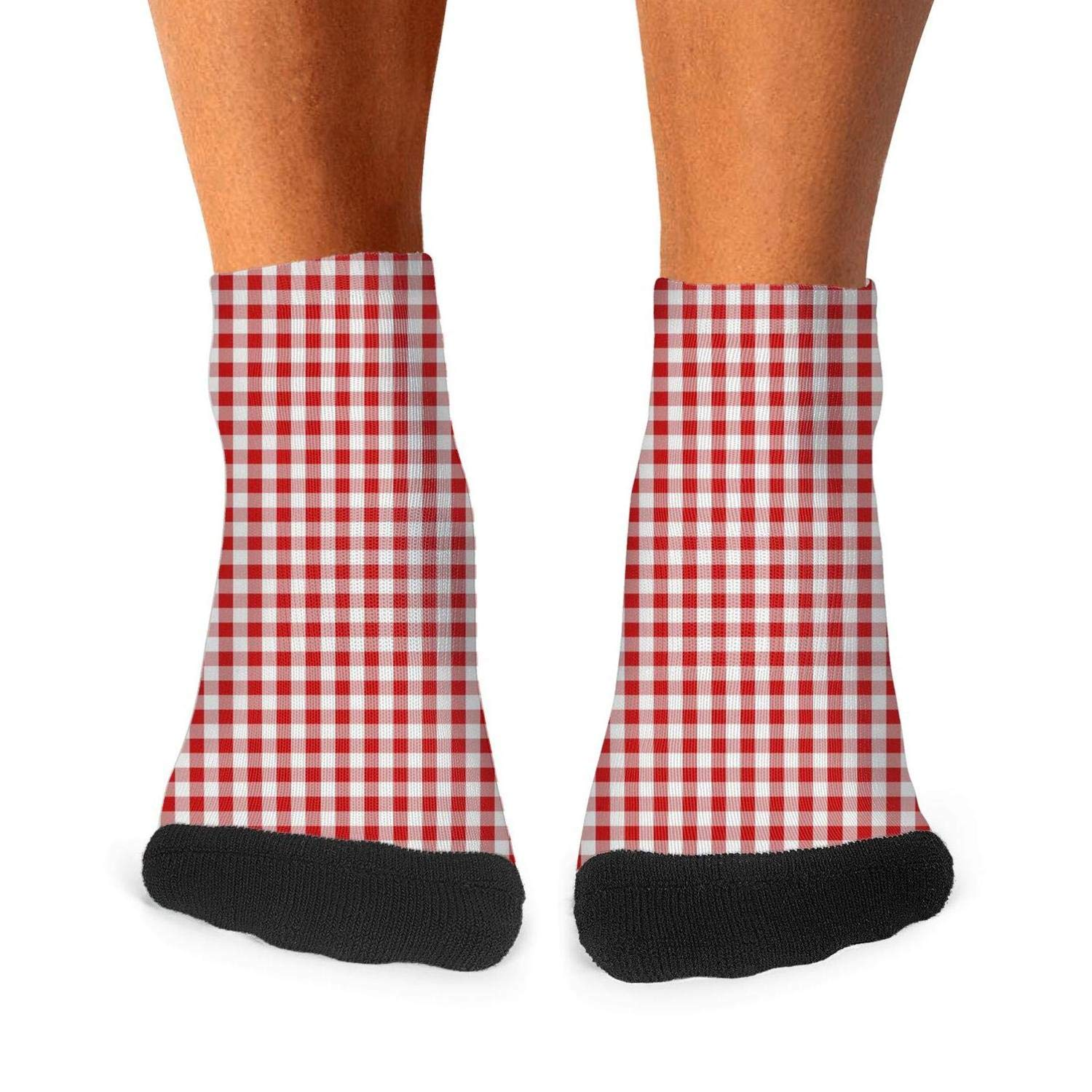 Socks Boot Lightweight Running Excellent Mens Red-White-Checkerboard-Mosaic-Lattice