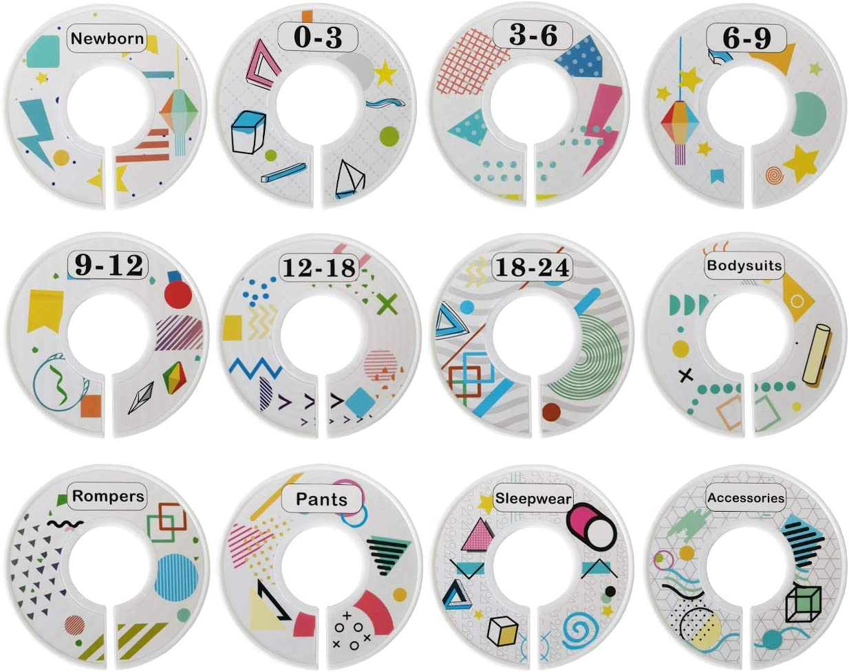 Baby Wardrobe Dividers Nursery Closet Dividers 12pcs Baby Clothes Dividers Baby Closet Size Dividers Organizer//Hangers Dividers Baby Closet Dividers for Baby Clothes