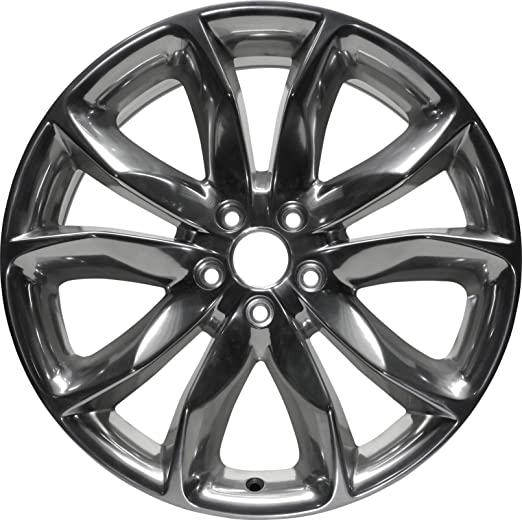 Partsynergy Replacement For 20 Rim Fits 2010-2018 Ford Explorer Black Machined 20x9 Aluminum Wheel