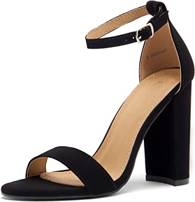 Herstyle Rosemmina Womens Open Toe Ankle Strap Chunky Block High Heel Dress Party Pump Sandals