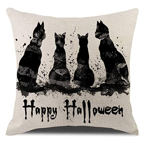 Winkey Funda de cojín, Halloween Calabaza otoño Fundas de ...
