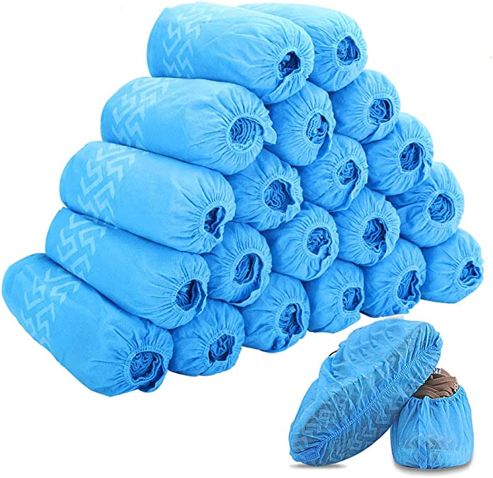 Princess Home 100 Pcs Dhoe Non-Slip Dustproof Disposable Shoe Cover Kids Students Adult Non-Woven Shoe Cover Home Foot Cover