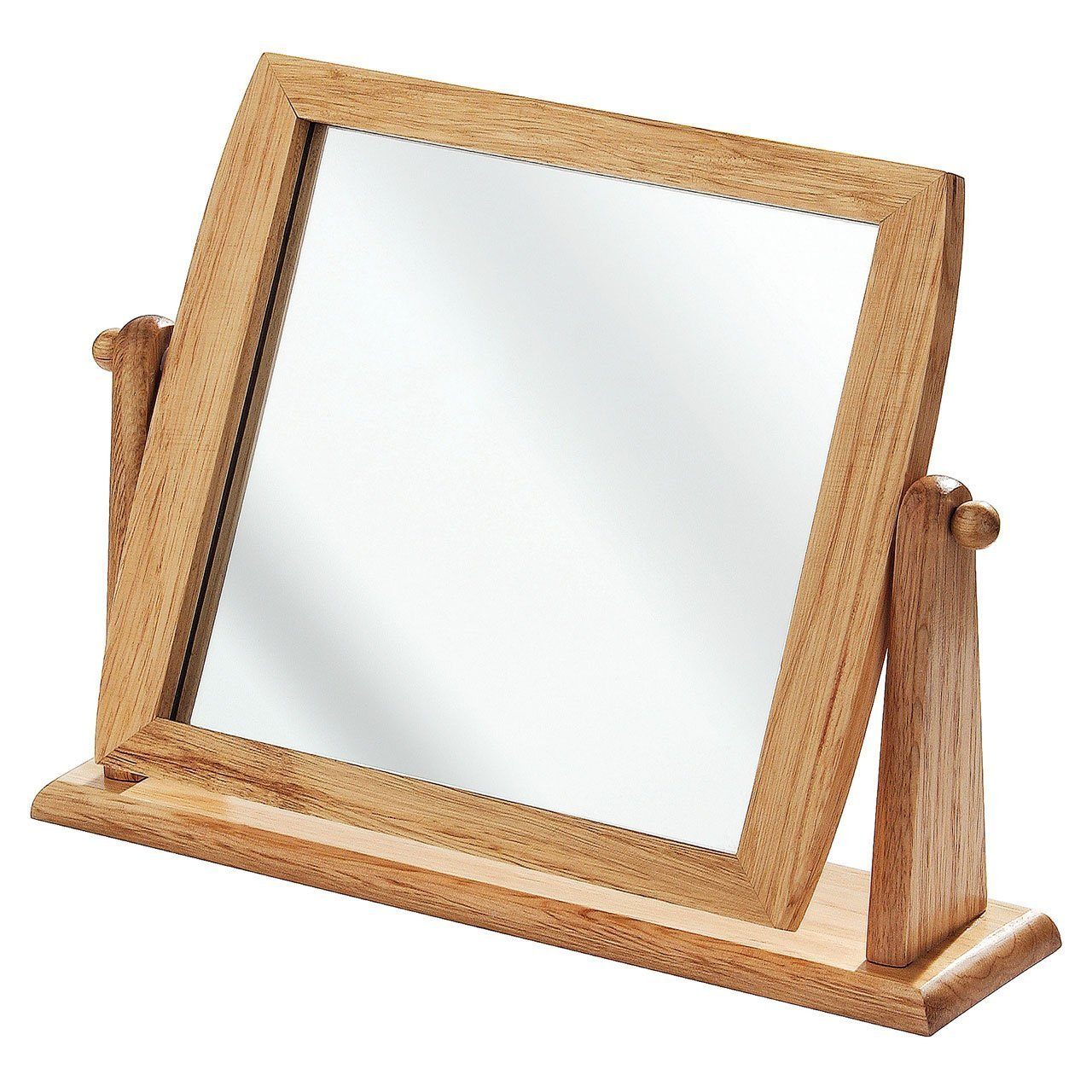 Wooden Frame Table Mirror with Stand by supersalestore Apollo Furnishings