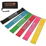 DANISH ENDURANCE Fitnessbänder, Loop Widerstandsbänder, Resistance Band, Krafttraining, 3er oder 6er Set